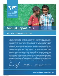 HAI 2014 Annual Report Cover