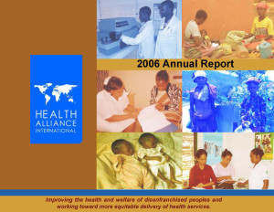 HAI 2006 Annual Report Cover