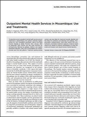 Global Mental Health - Mozambique