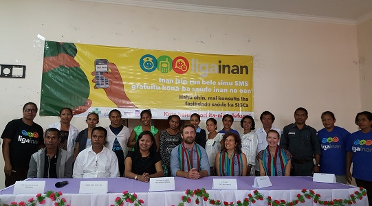 Official launch of the Liga Inan mHealth for maternal health project in Ermera, Timor-Leste